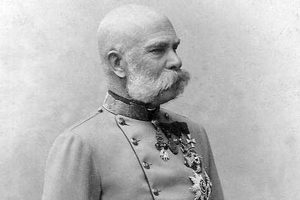 Kaiser Franz Josef I eröffnete 1902 den Bahnhof Andelsbuch (Bild von Carl Pietzner)