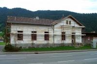 Renovierung Fassade des kulturverein bahnhof, 2003