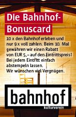 Bonuskarte kulturverein bahnhof