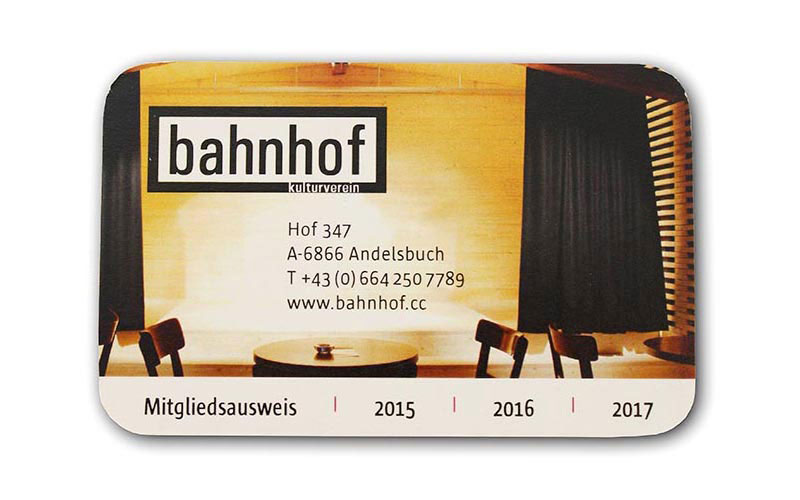 Mitgliedsausweis kulturverein bahnhof