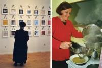 Bild links: Ausstellung Paul Albert Leiter, Bild rechts: Margarete Broger
